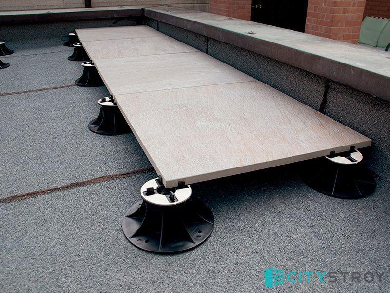 Регулируемые опоры для лаг и плитки для террасной доски и